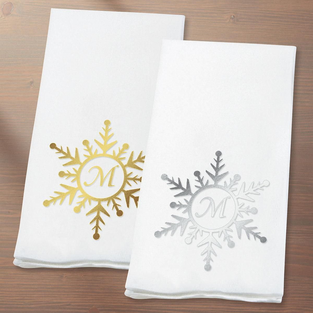 Monogrammed Guest Towels