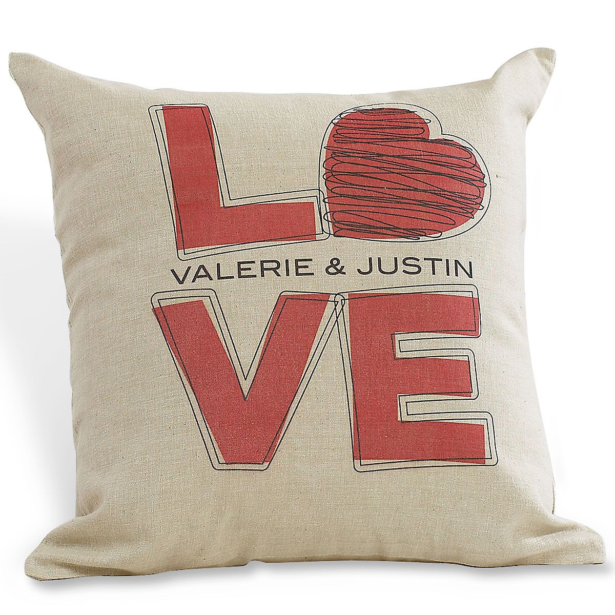 L-O-V-E Decorative Pillow