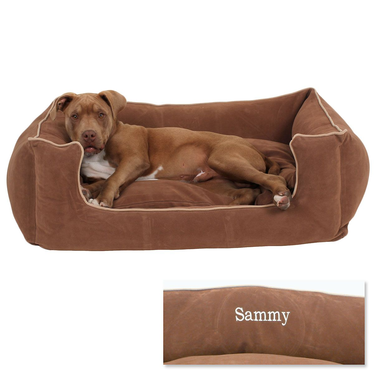 Chocolate Low Profile Pet Bed