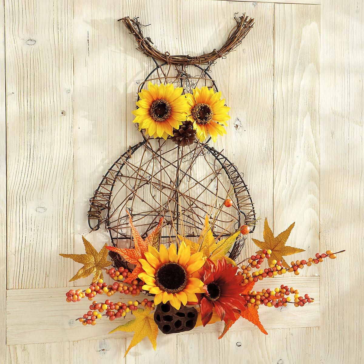 Fall Owl Wire Wall Decoration