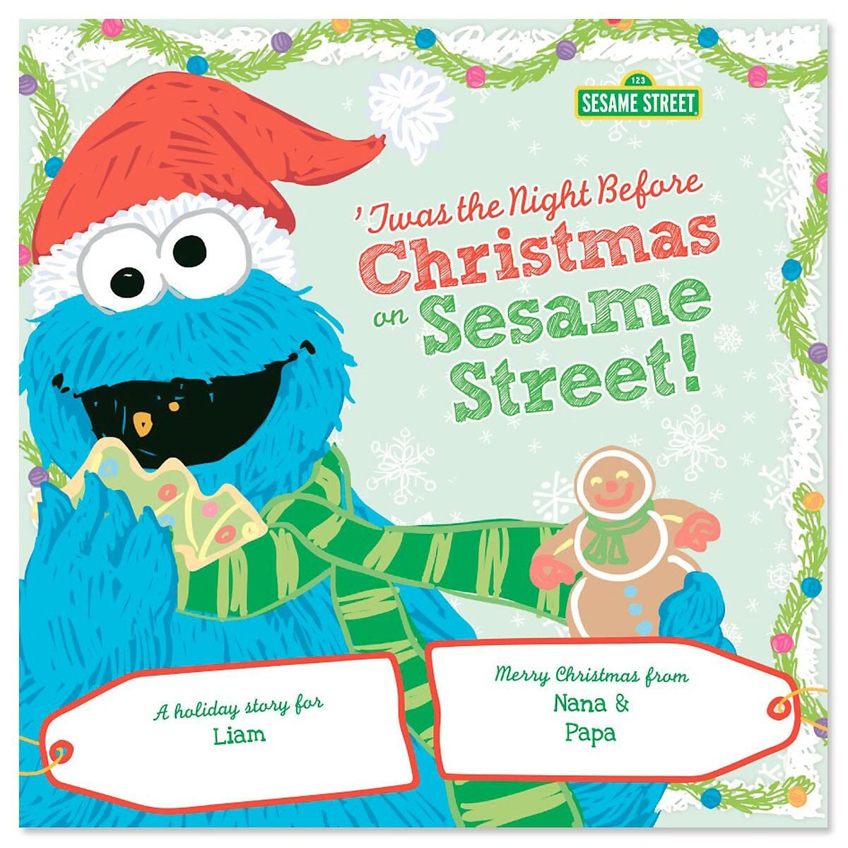 Twas The Night Before Christmas on Sesame Street Personalized Story Book