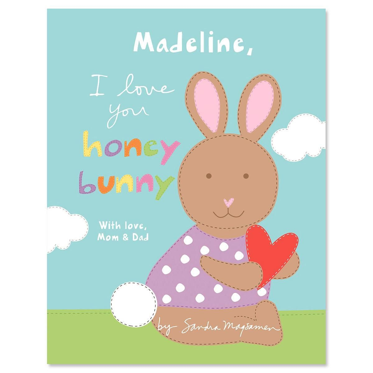 I Love You Honey Bunny Personalized Story Book