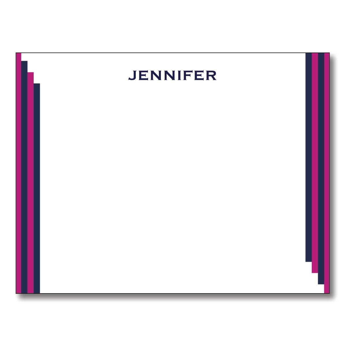 Stripe Note Cards