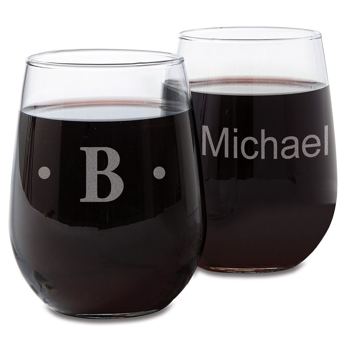 Stemless Personalized Wine Glasses
