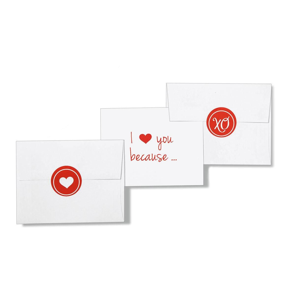I Love You Because...Correspondence Cards