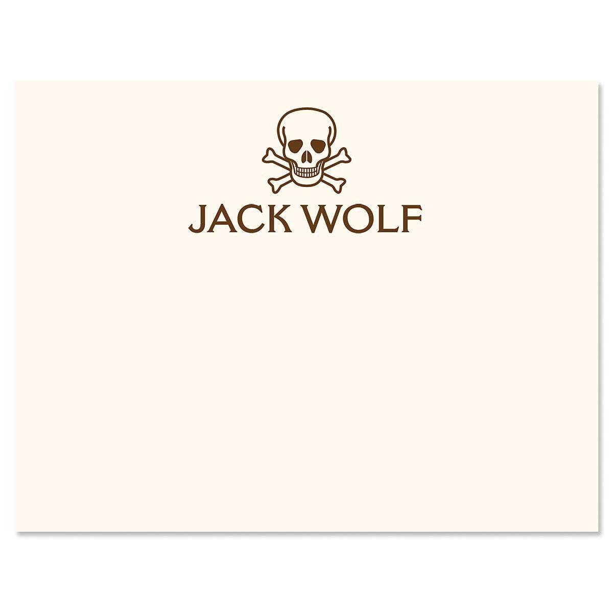 Skull & Crossbones Correspondence Cards