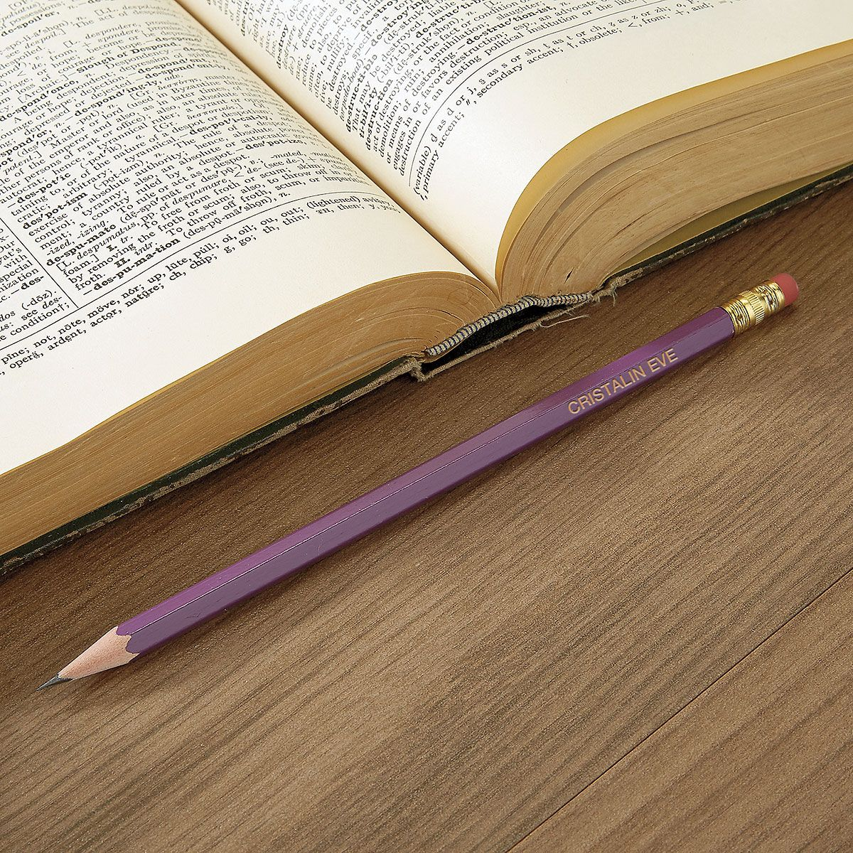 Purple #2 Hardwood Personalized Pencils