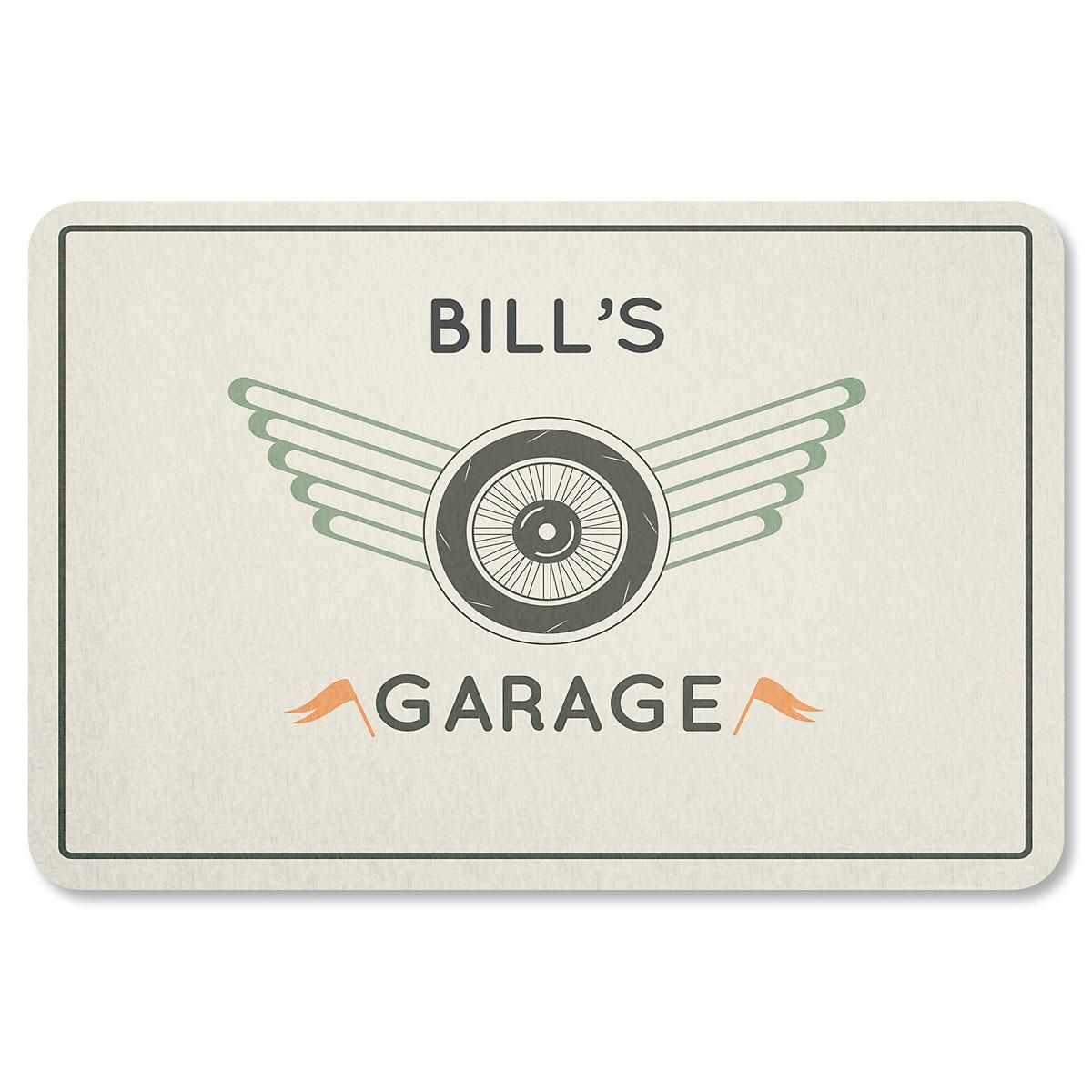 Tire and Wheel Garage Personalized Doormat