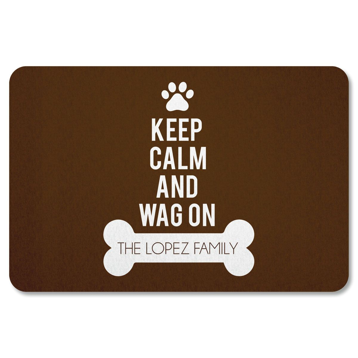 Wag On Personalized Doormat