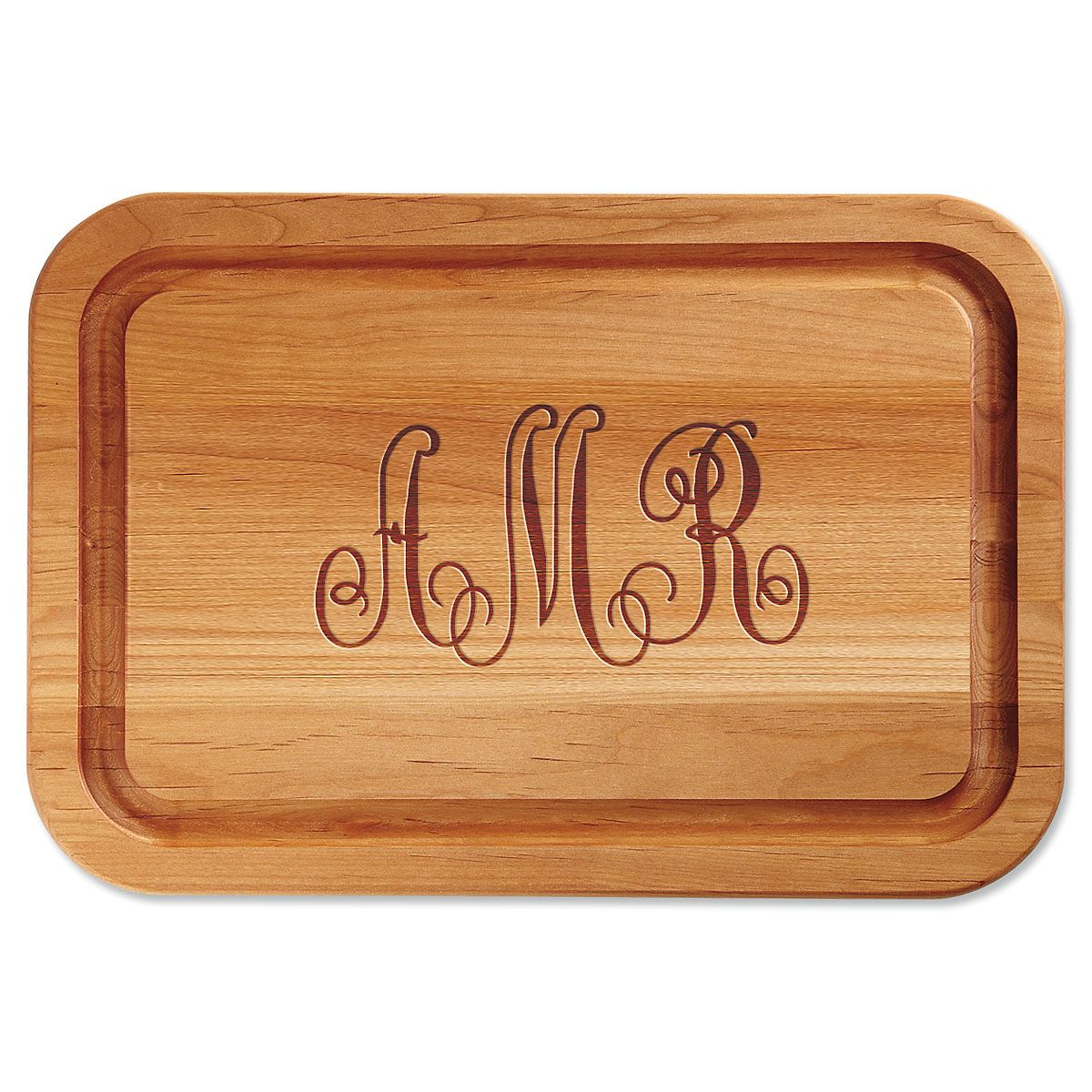 Personalized Monogrammed Engraved Wood Cutting Board