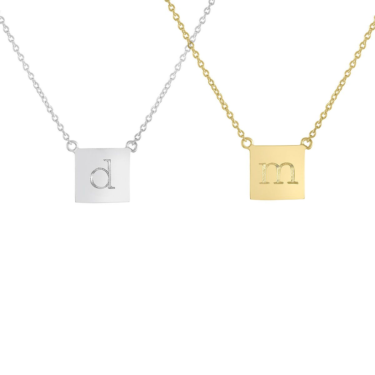 Personalized Chloe Square Necklace