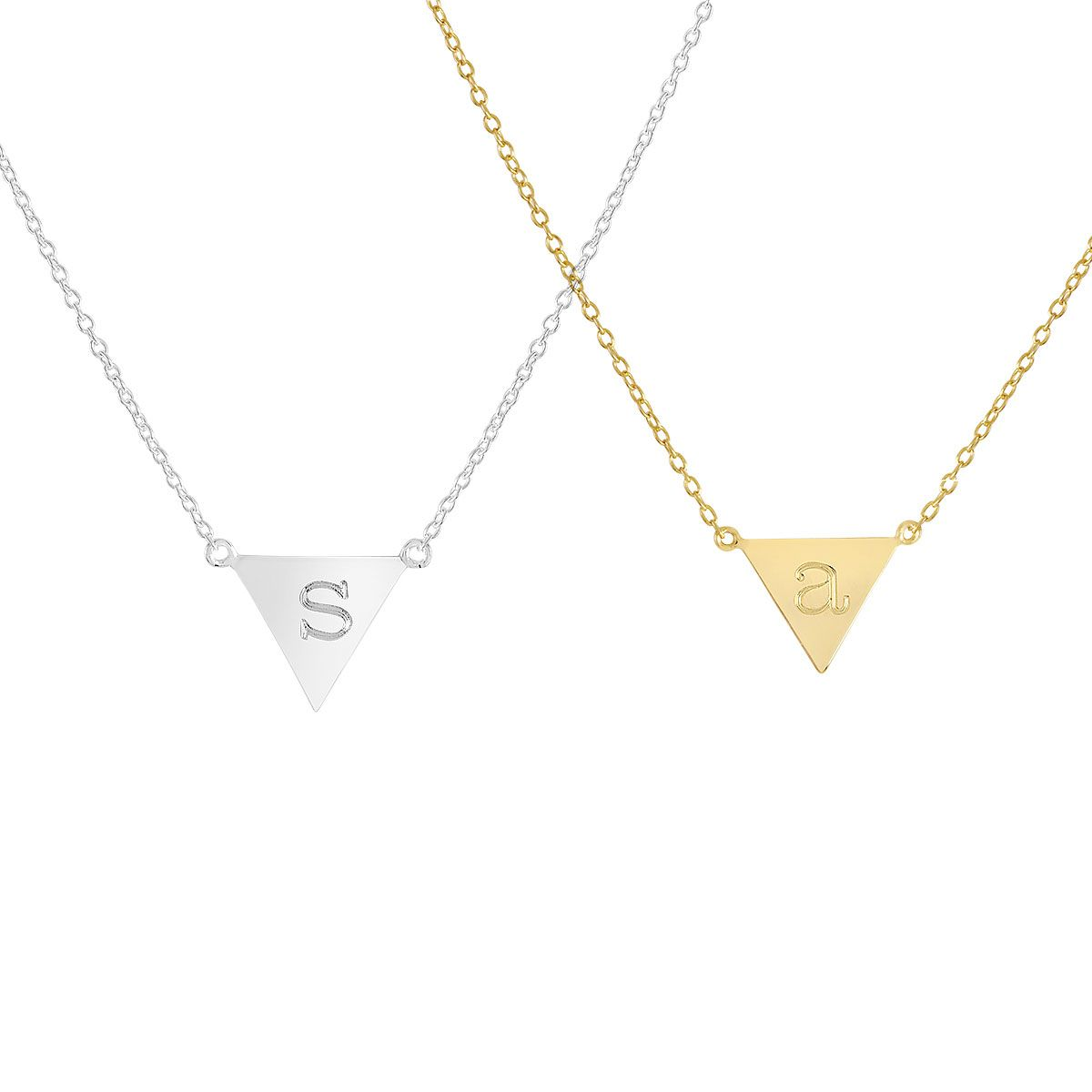 Personalized Molly Upside Down Triangle Necklace