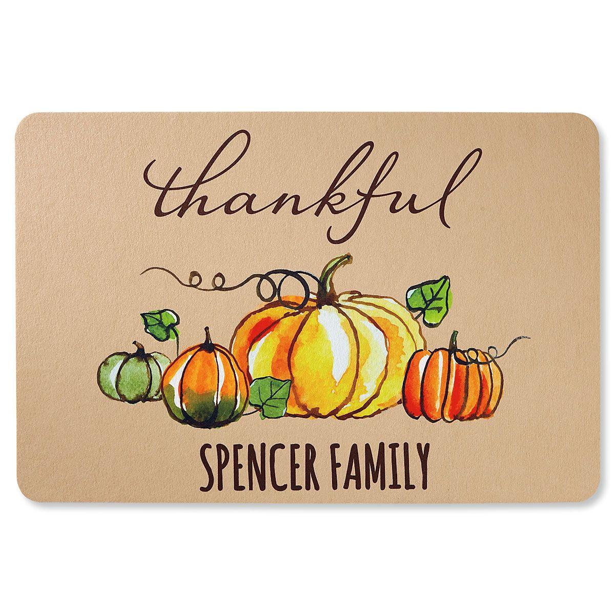 Thankful Personalized Doormat