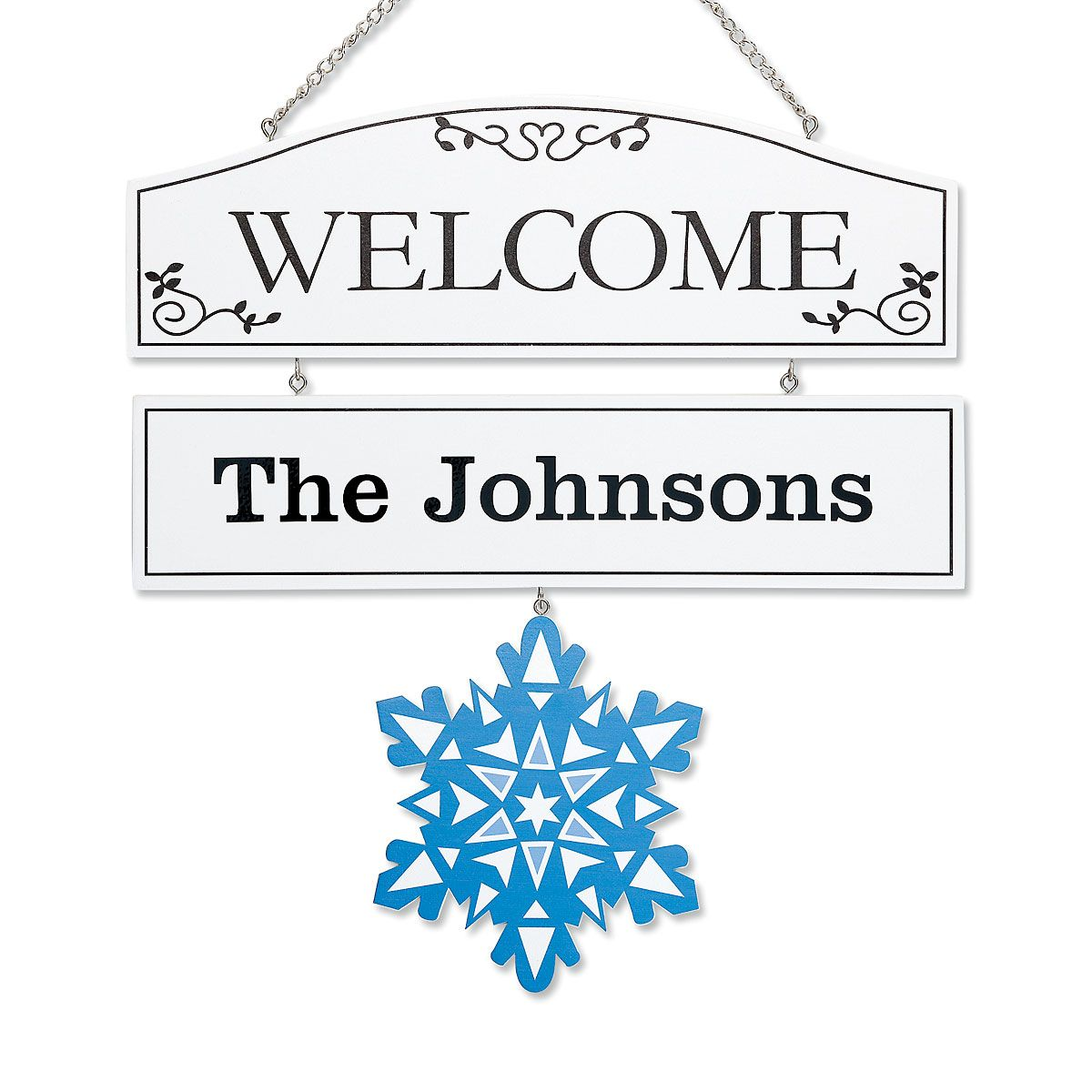 Personalized Welcome Plaque with Seasonal Hangers