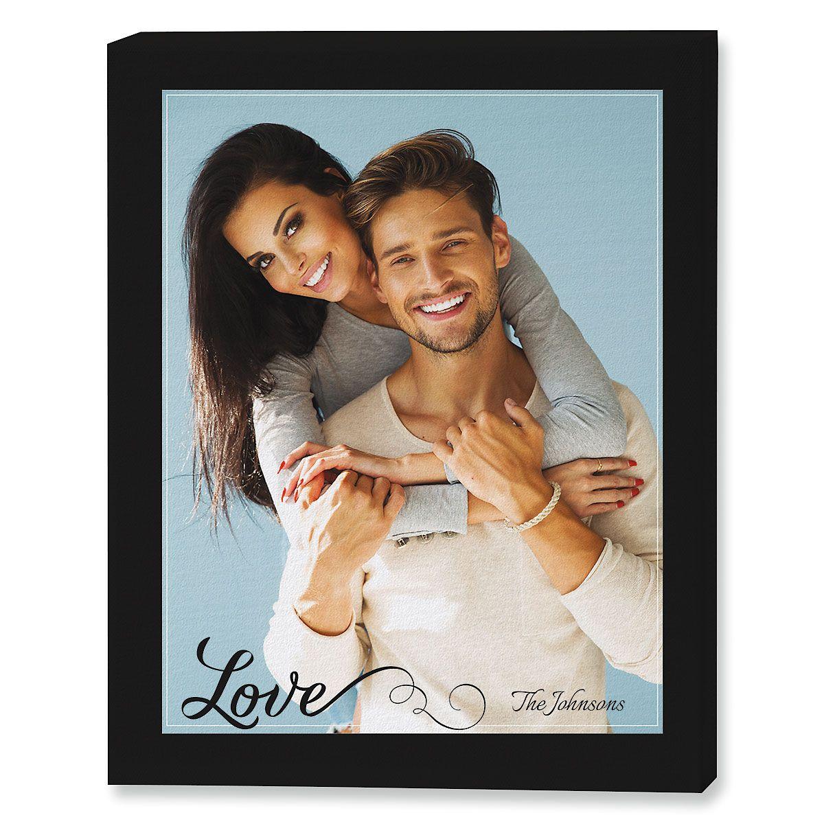 Love Portrait Canvas Photo Print