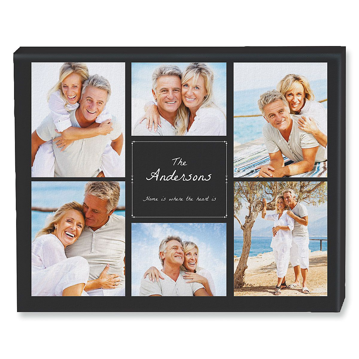 Home Heart Collage  Canvas Photo Print