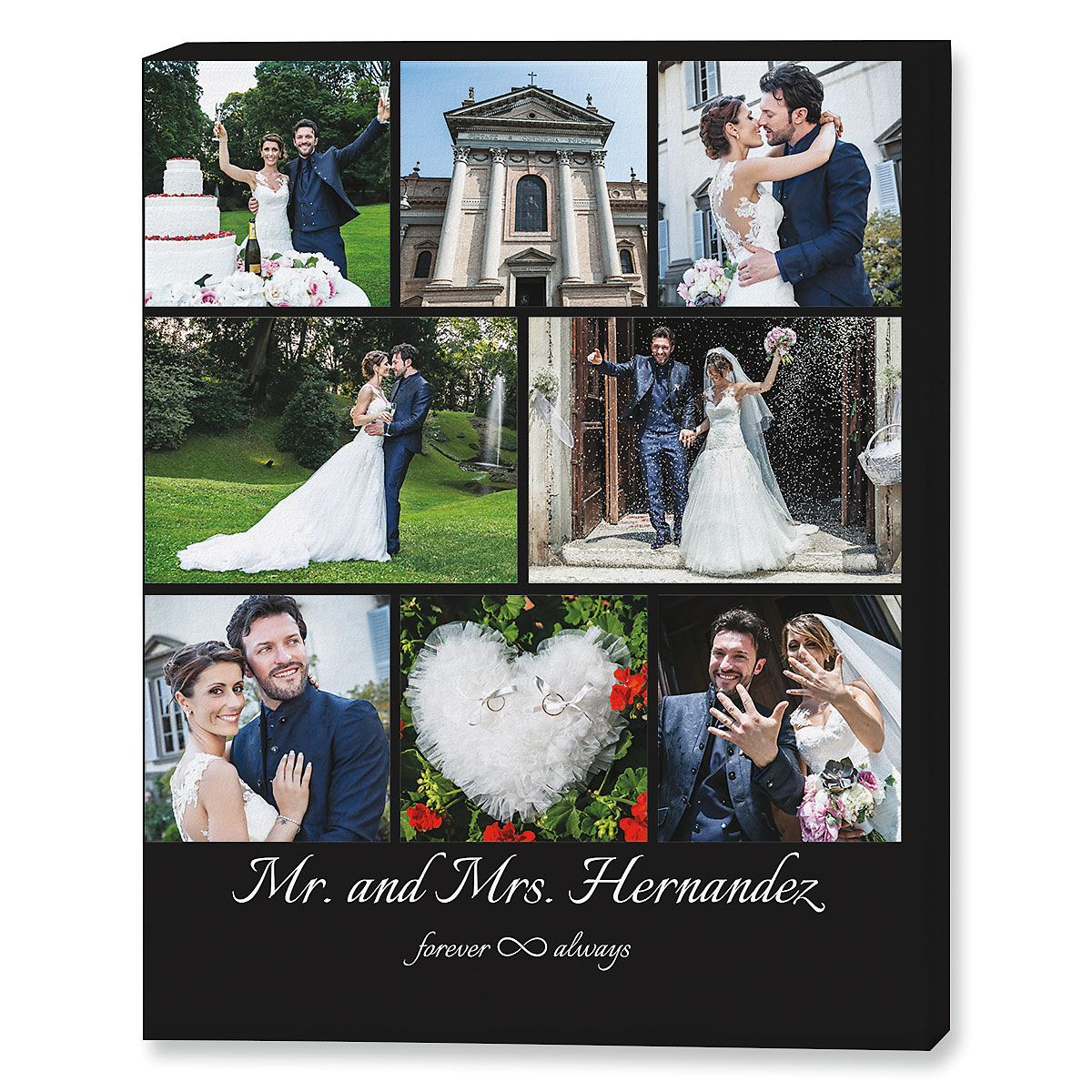 Mr. & Mrs. Collage Canvas Photo Print