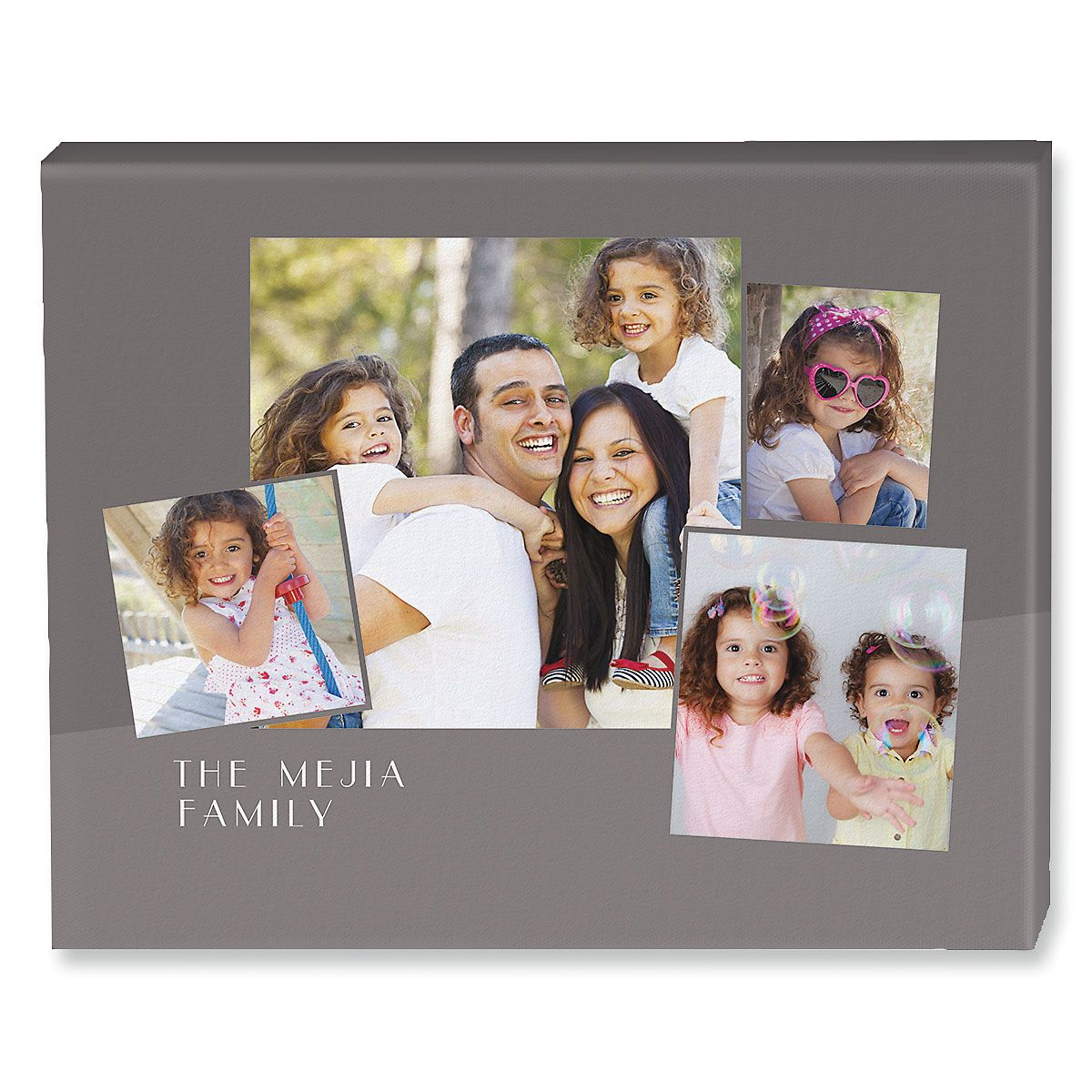 Family Name Collage Canvas Photo Print