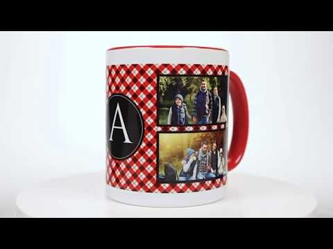 Plaid Personalized Photo Mug