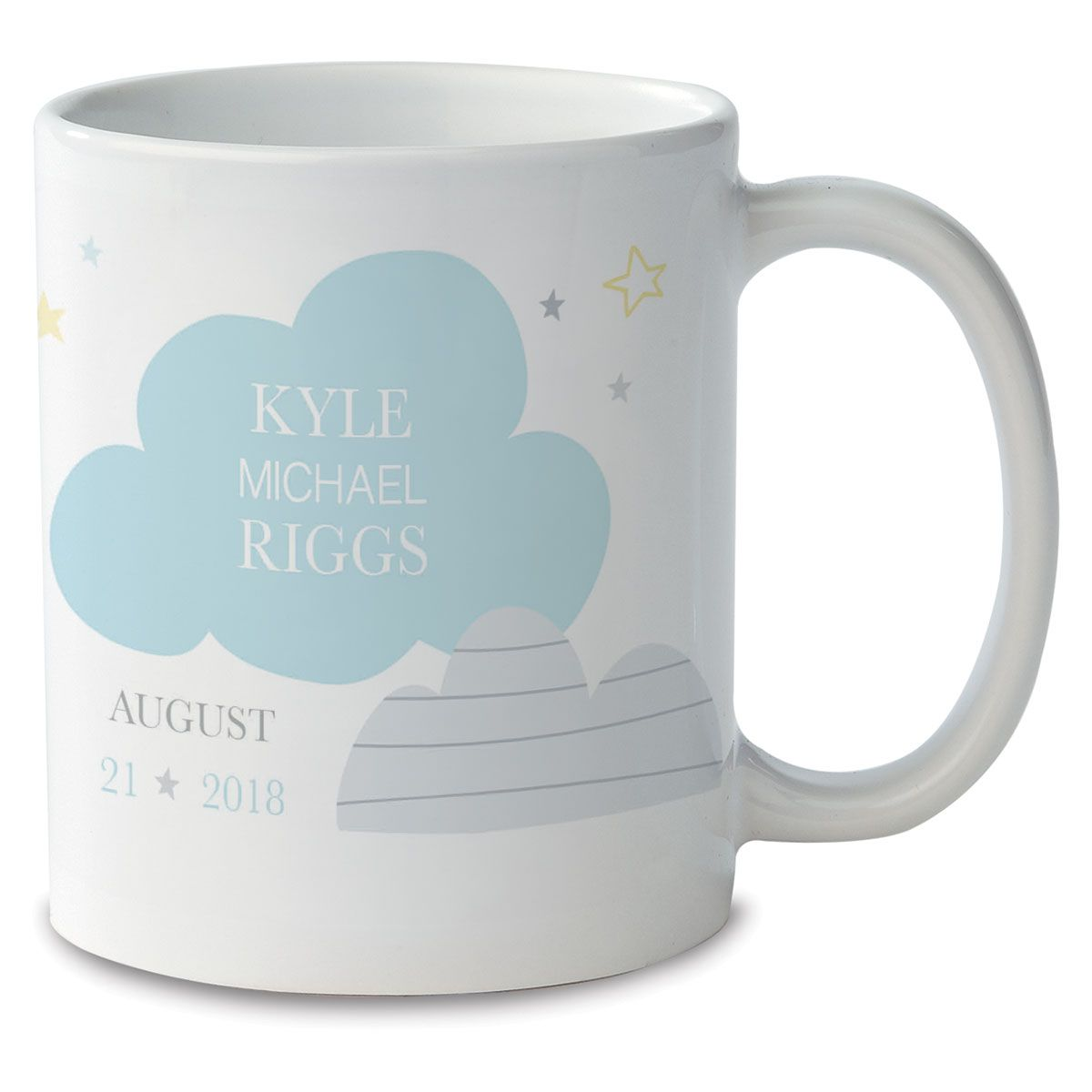 Baby Boy Personalized Photo Mug