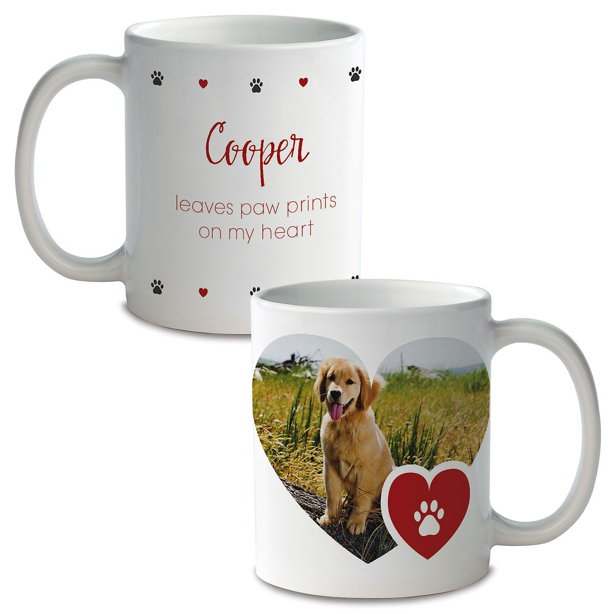 Paw Print Personalized Photo Mug