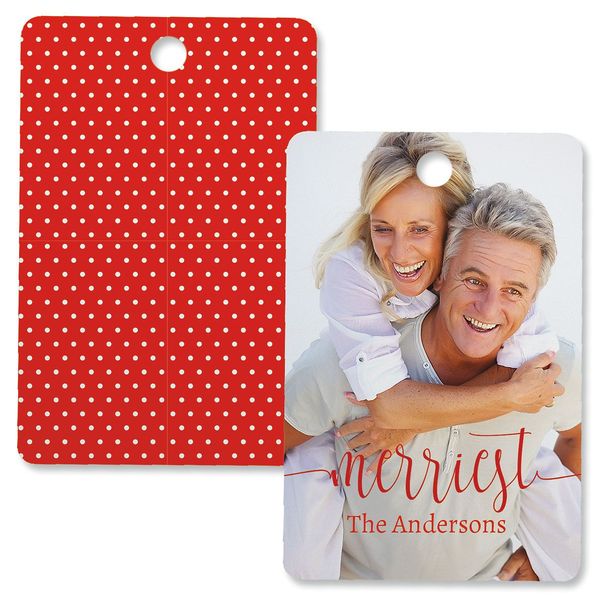 Merriest Personalized Photo Ornament – Rectangle