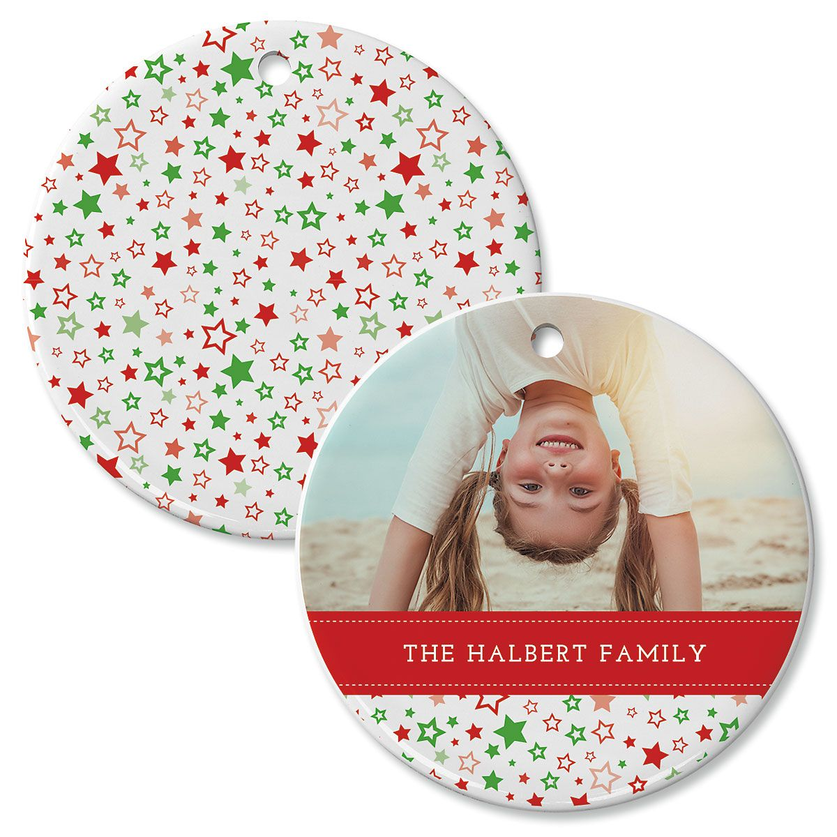 Holiday Stars Personalized Photo Ornament