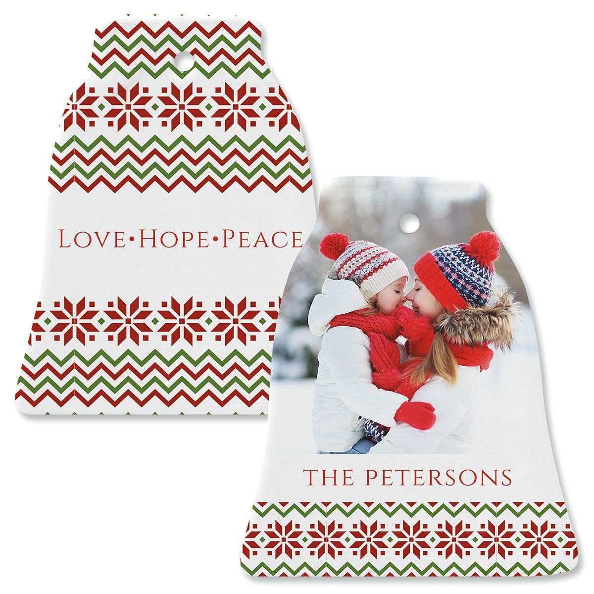 Sweater Photo Ornament – Bell