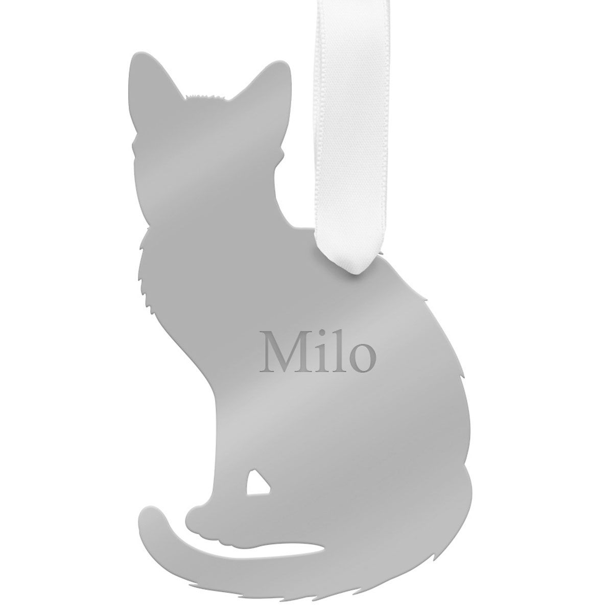 Personalized Acrylic Cat Ornament