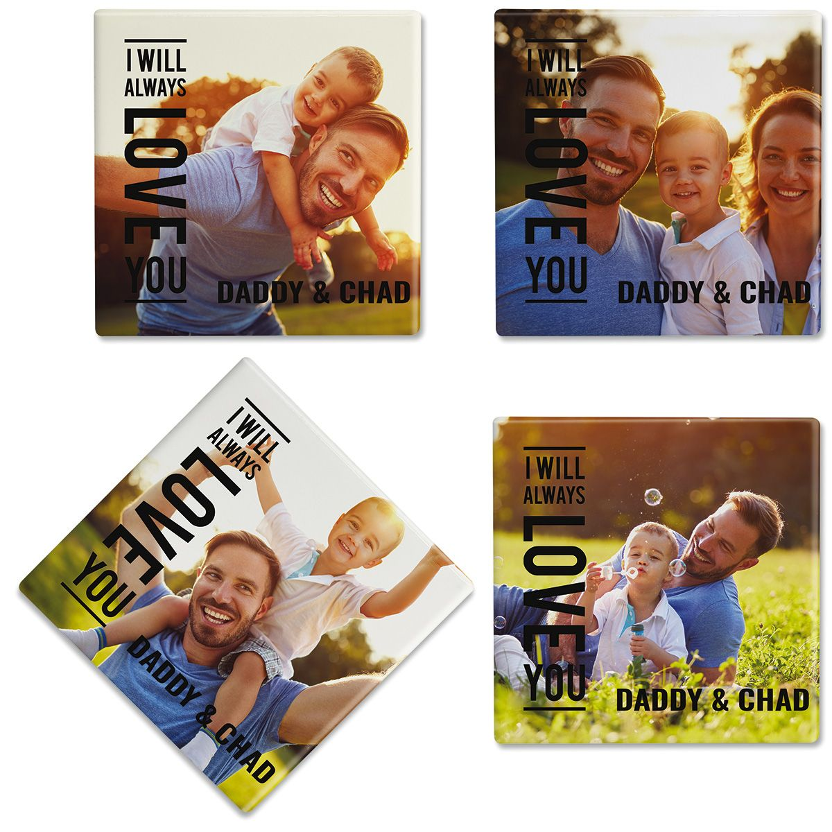 Always Love Personalized Photo Coasters