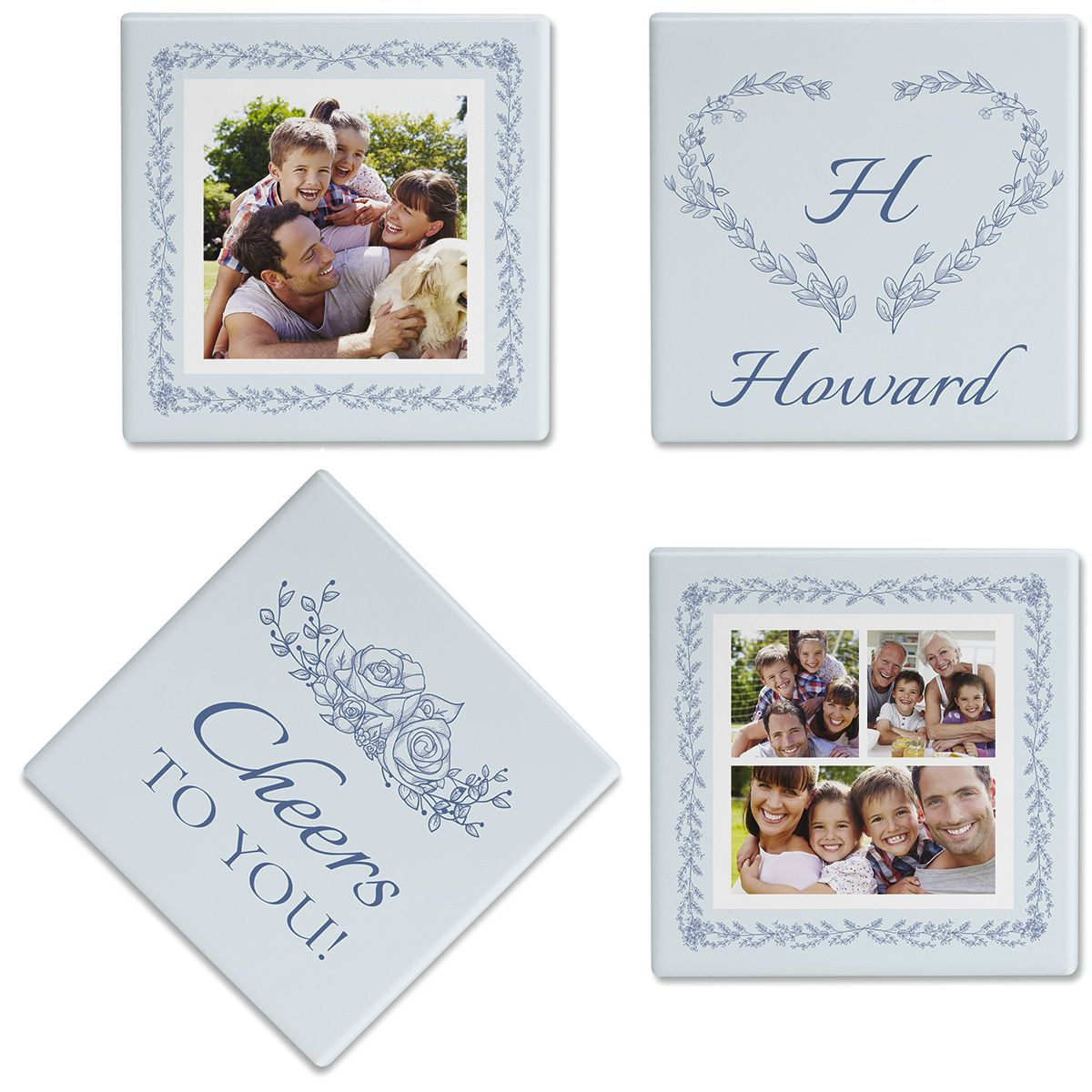 Laurel Cheers Personalized Photo Coasters