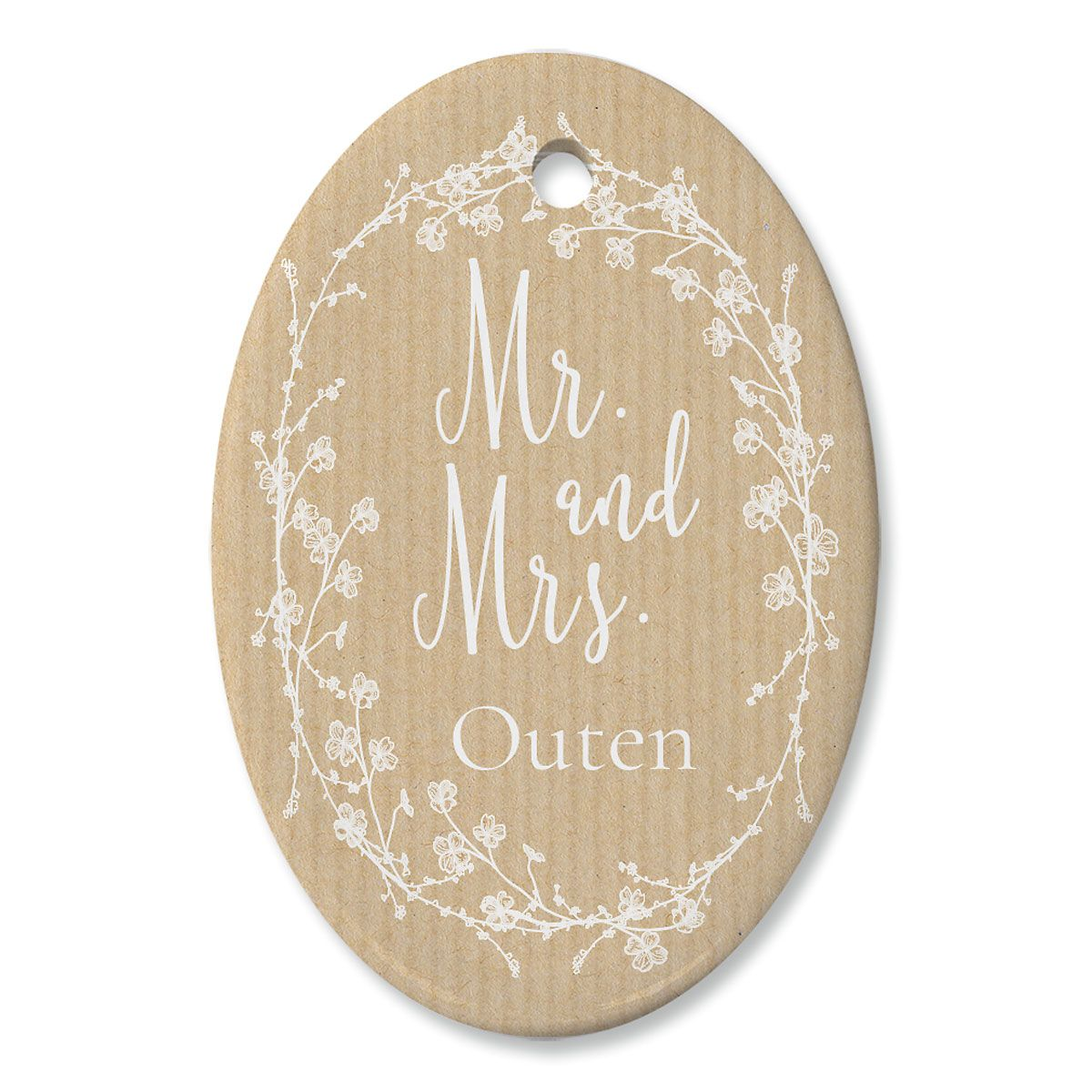 Mr And Mrs Personalized Oval Ornament