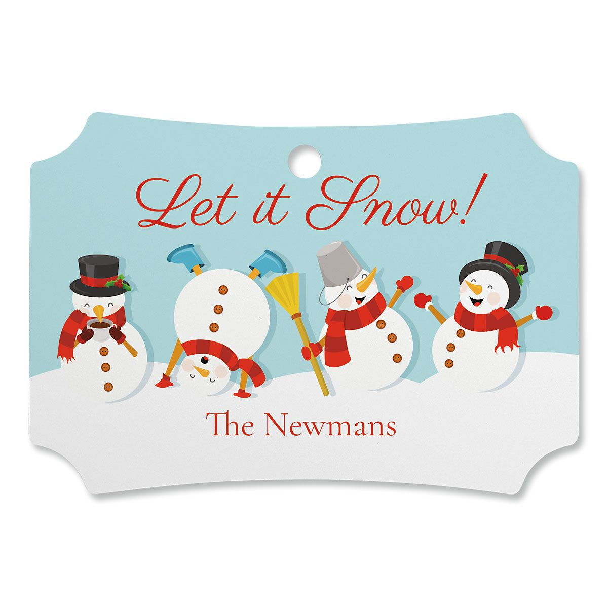Let It Snow Personalized Ornament Deluxe