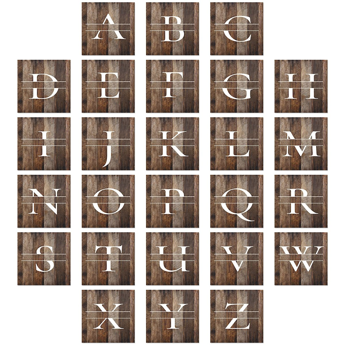 Wood Grain Personalized Ceramic Coasters