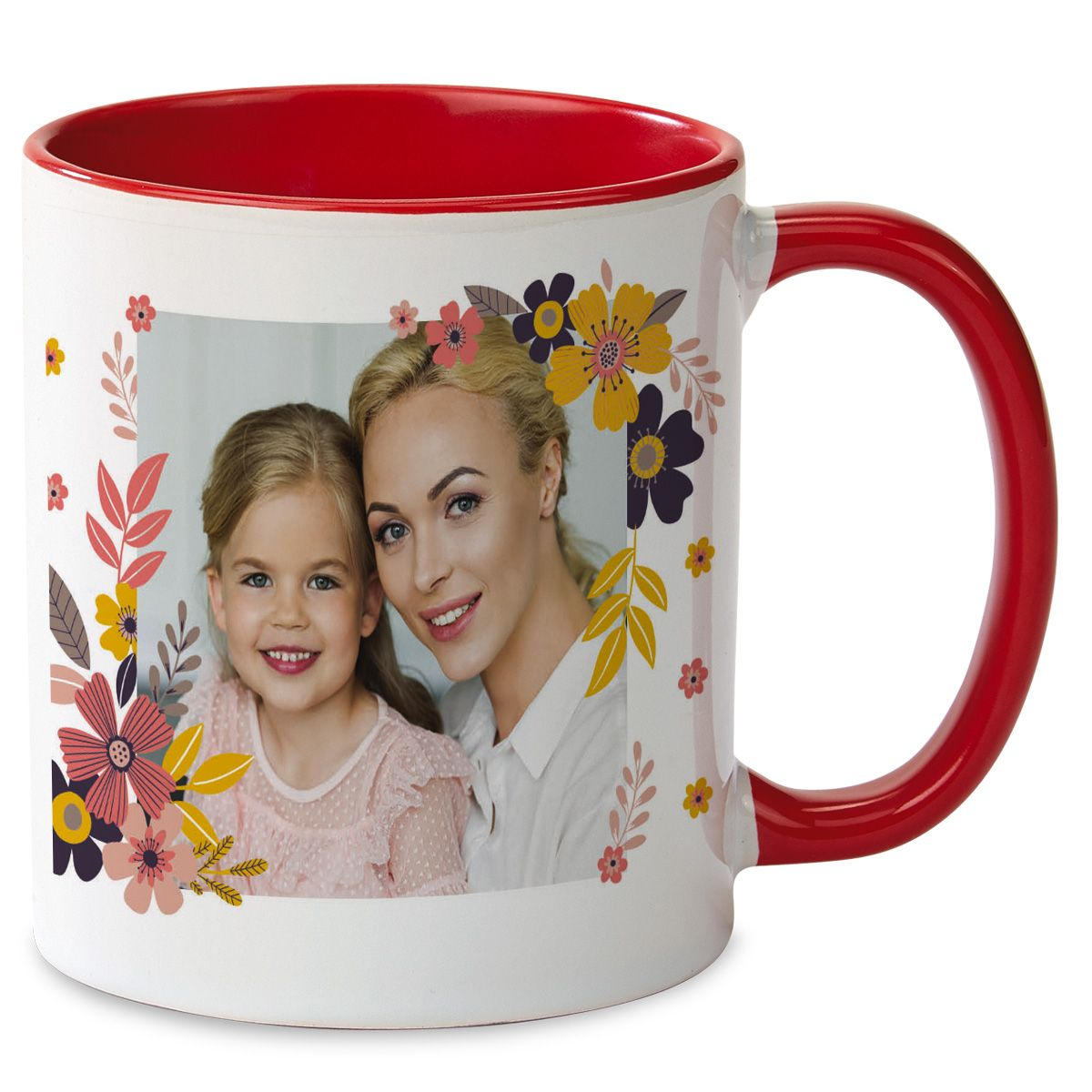 Floral Personalized Photo Mug