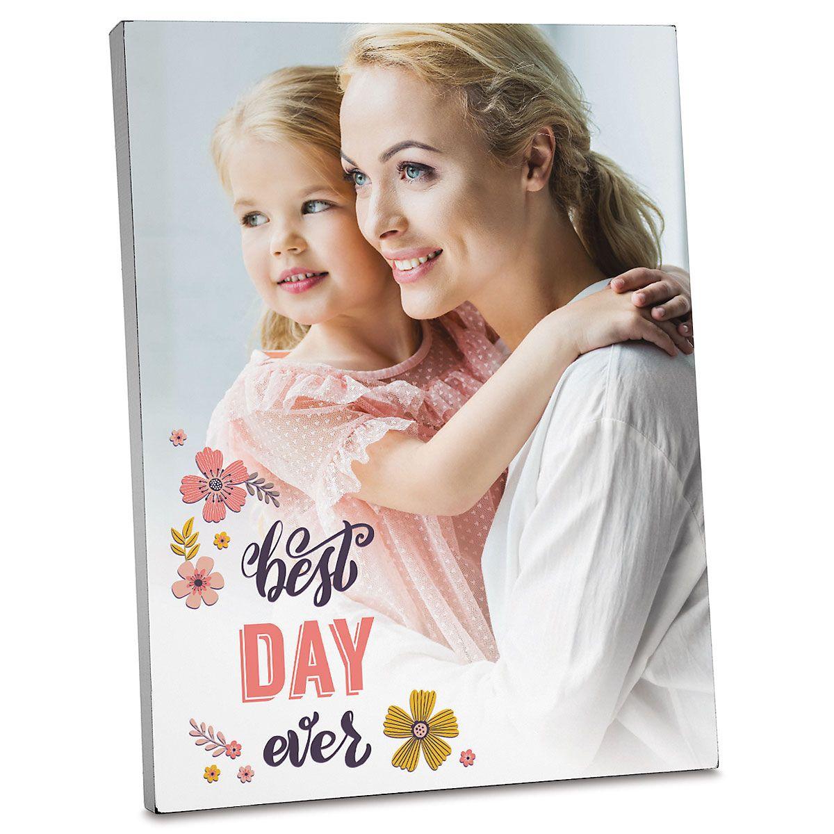 Floral Personalized Photo Plaque