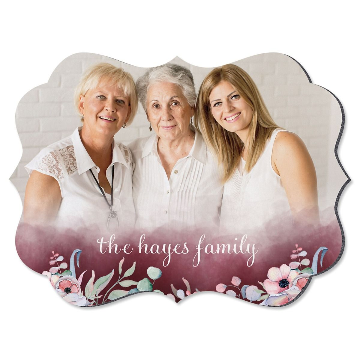 Watercolor Benelux Personalized Photo Plaque