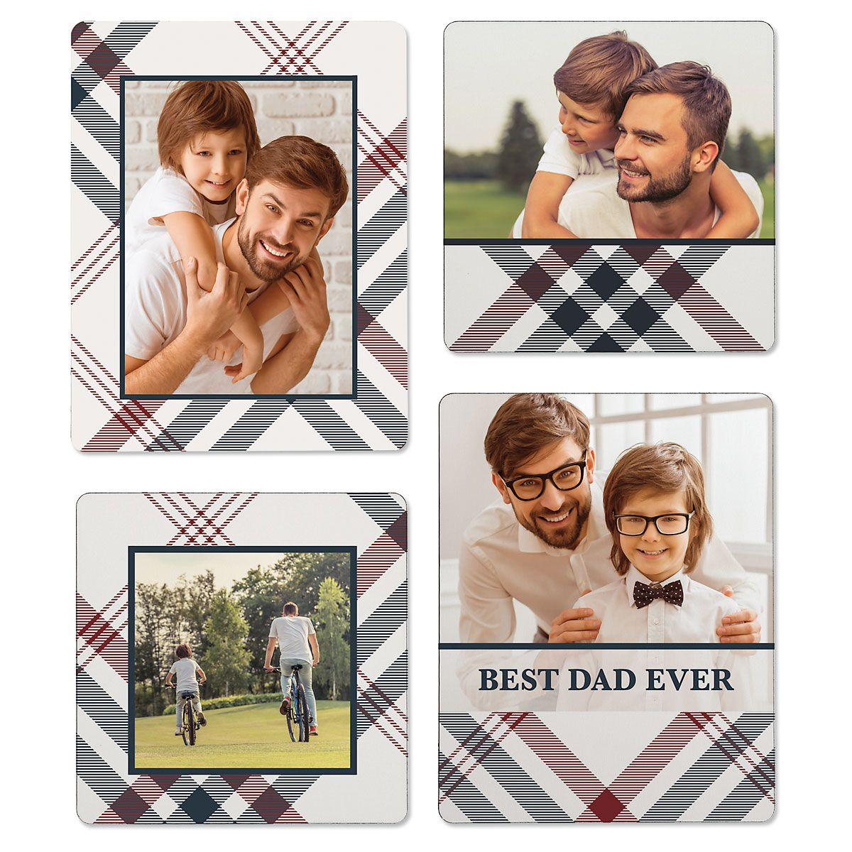 Plaid Photo Magnets