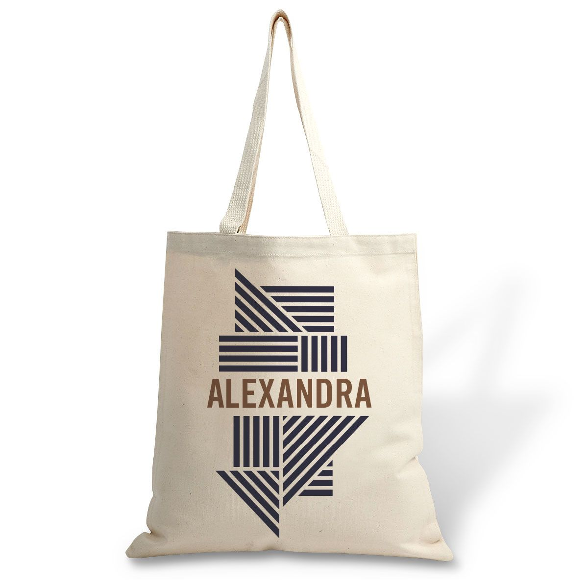 Personalized Stripes Canvas Tote
