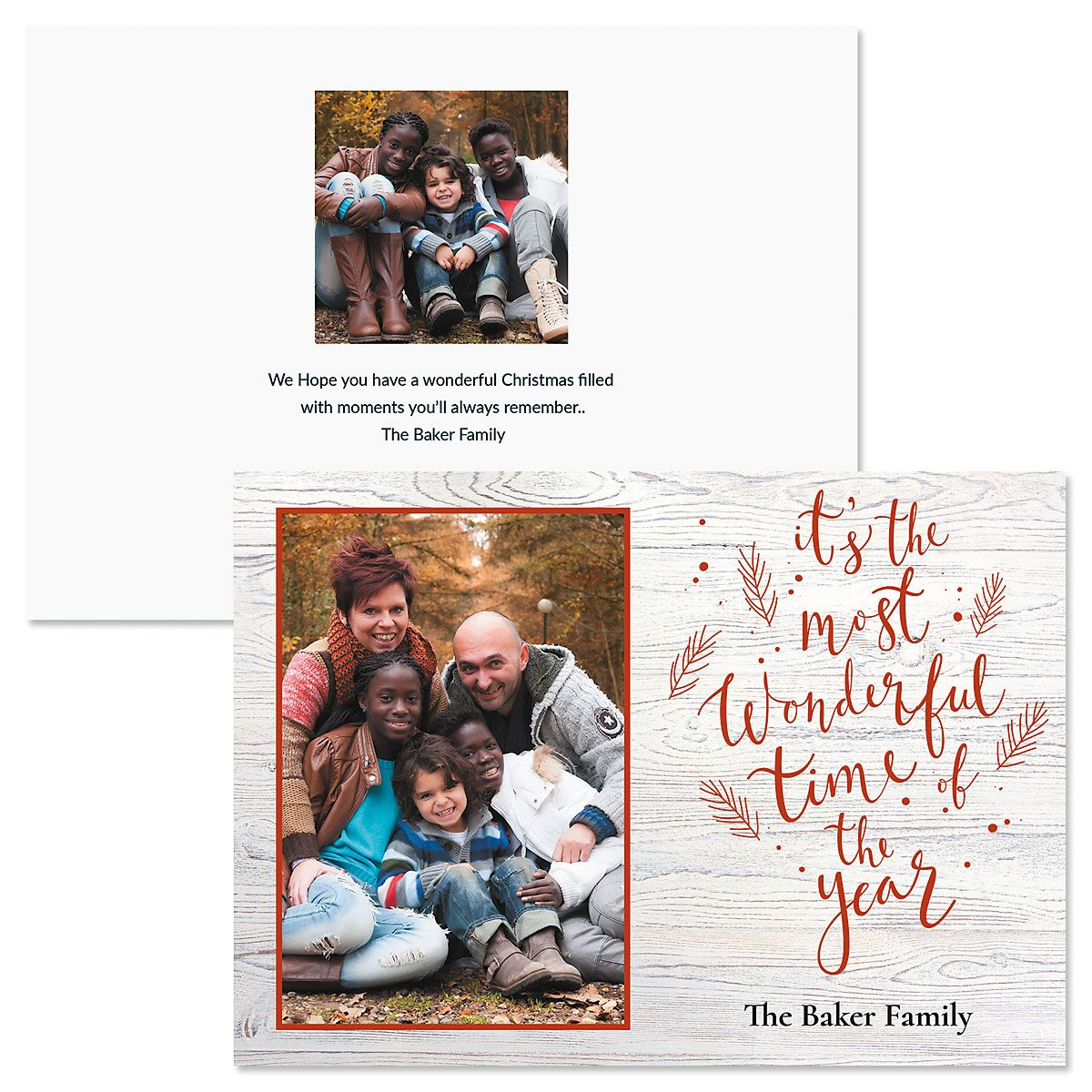 Wonderful Year Personalized Photo Christmas Cards
