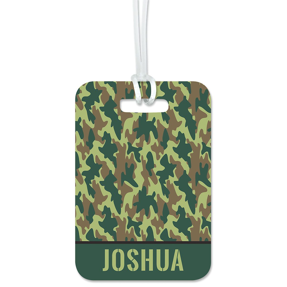Green Camo Personalized Luggage Tag