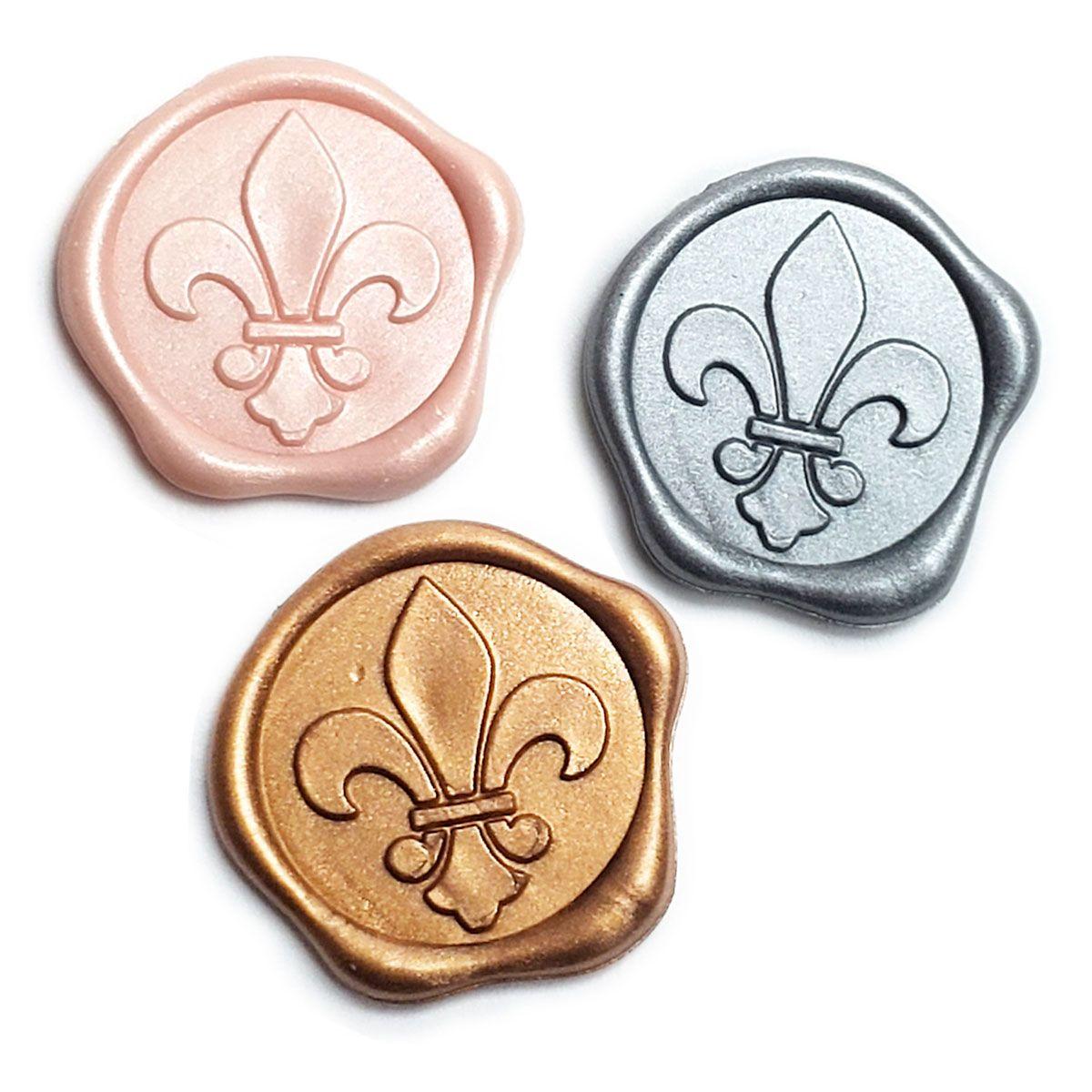 Fleur De Lis Adhesive Wax Seal Stickers