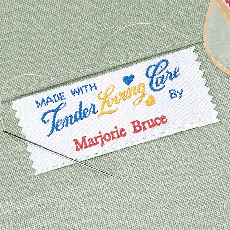 Tender Loving Care Sewing Label