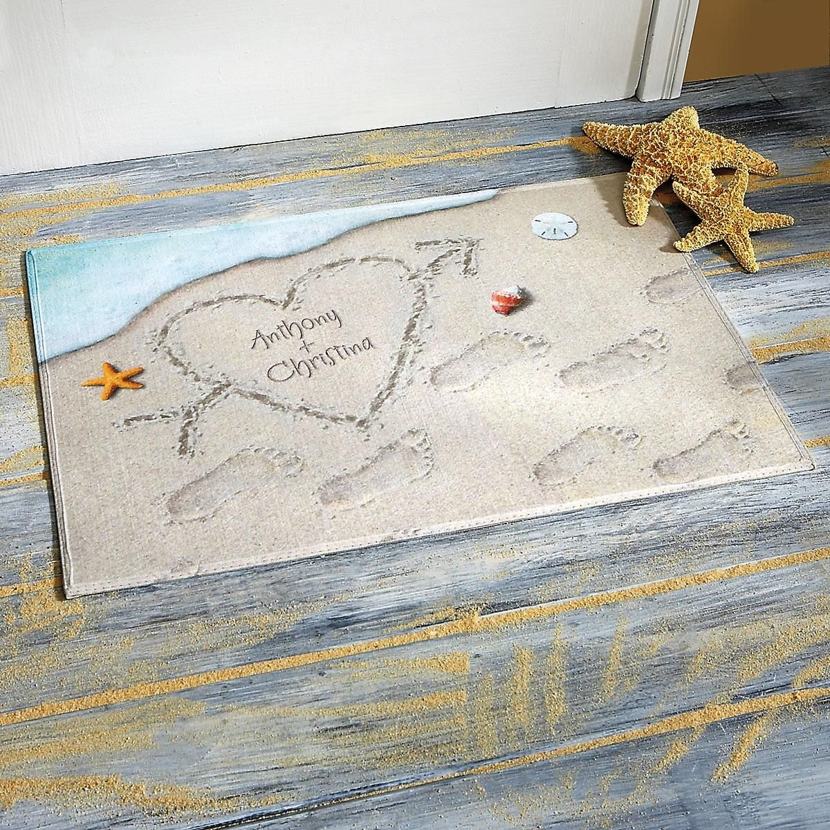 Heart in the Sand Doormat