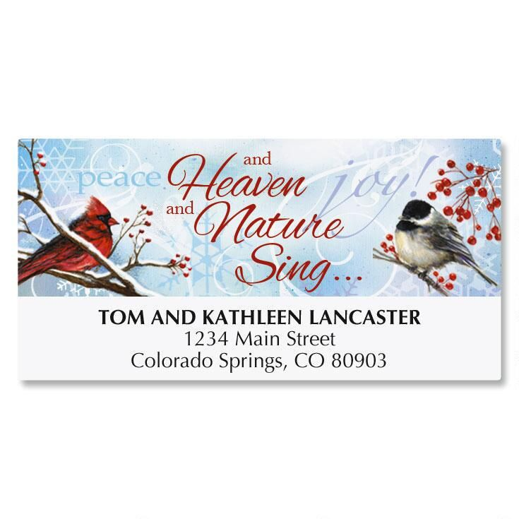 Winter Carol Christmas Deluxe Address Labels