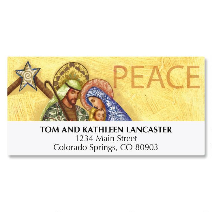 Holy Family Christmas Deluxe Address Labels