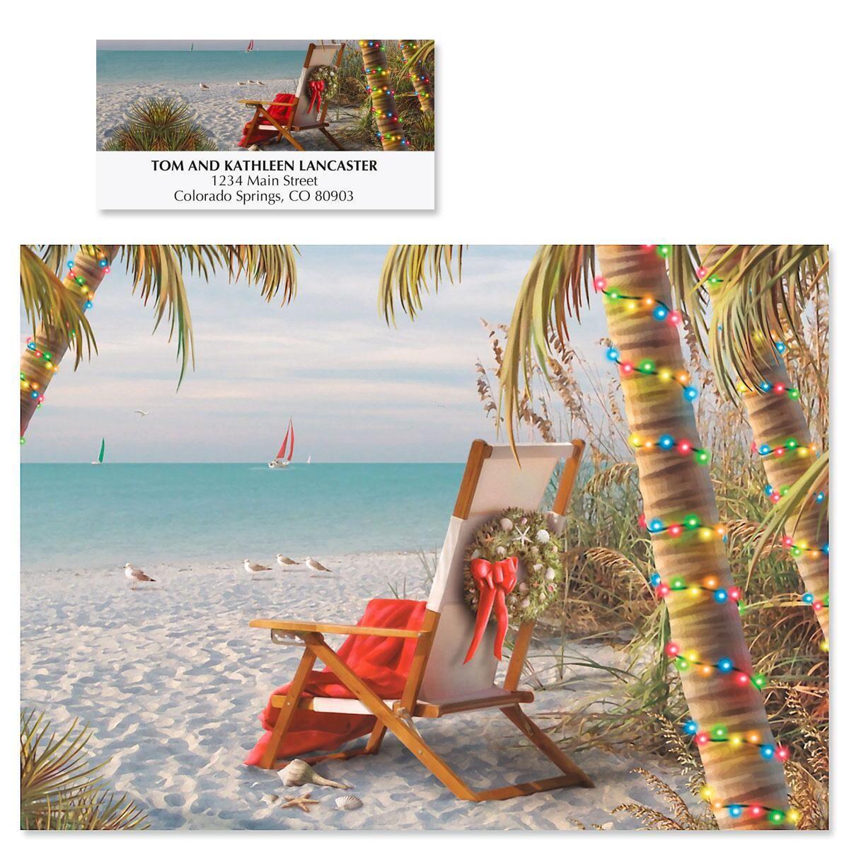 Tropical Breeze Christmas Cards