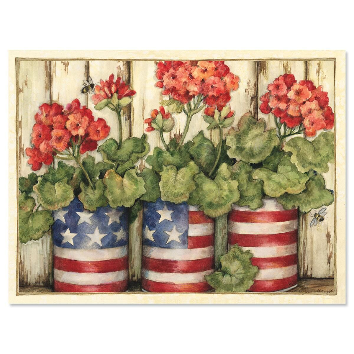 Geranium Note Cards - BOGO