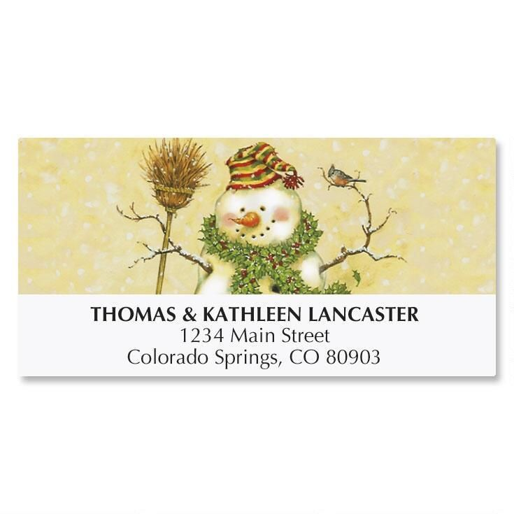 Snowman Address Labels