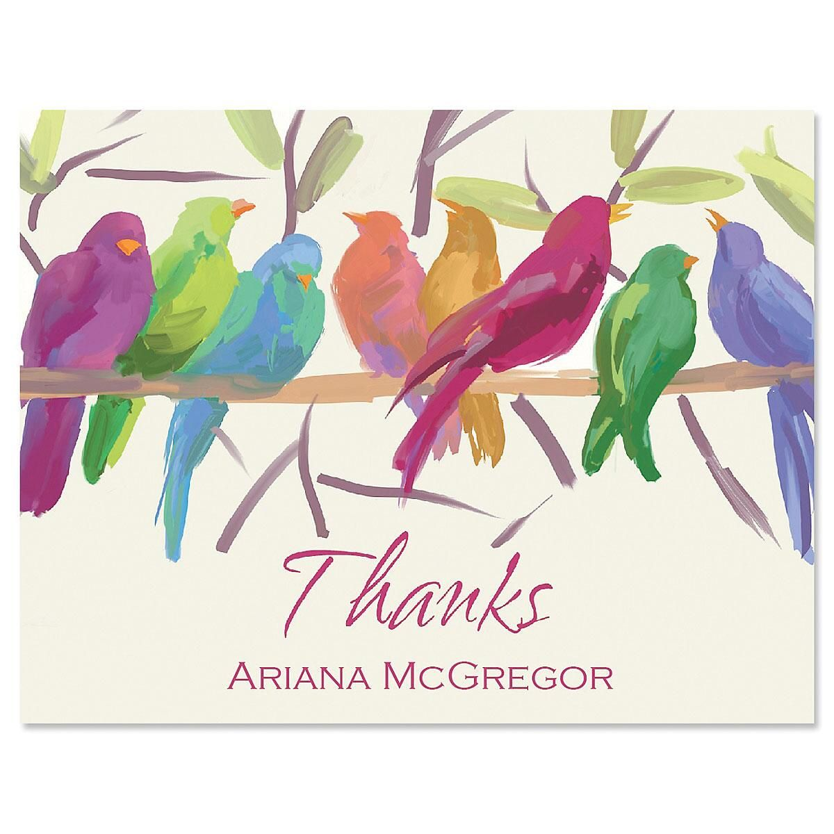 Flocked Together Personalized Thank You Cards